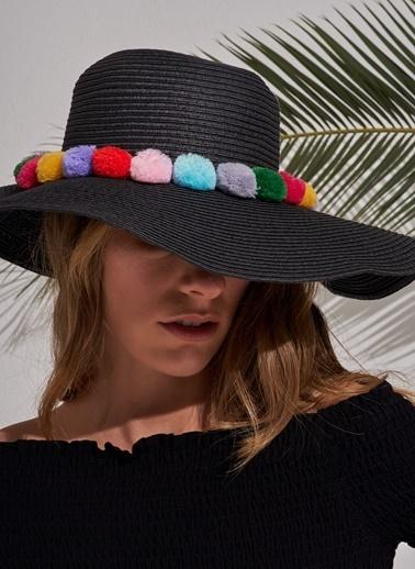 Morhipo Beach Ponpon Detaylı Şapka Siyah